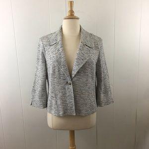 St. John Collection Knit 3/4 Sleeve Blazer Jacket